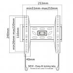 Fits Samsung TV model UE32T5300 Black Flat Slim Fitting TV Bracket