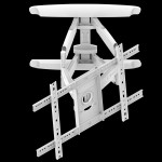 Fits Samsung TV model 40HC890 White Swivel & Tilt TV Bracket