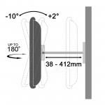 Fits Samsung TV model LH46UDDPUBB-EN Black Swivel & Tilt TV Bracket