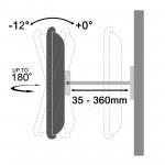 Fits Samsung TV model 40HC890 Silver Swivel & Tilt TV Bracket